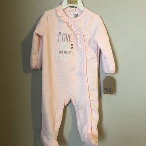 Chick Pea girls 6-9 month footie sleep and play